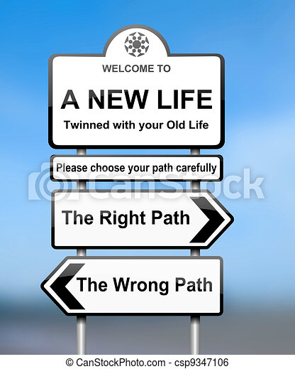 Choosing the right path. - csp9347106