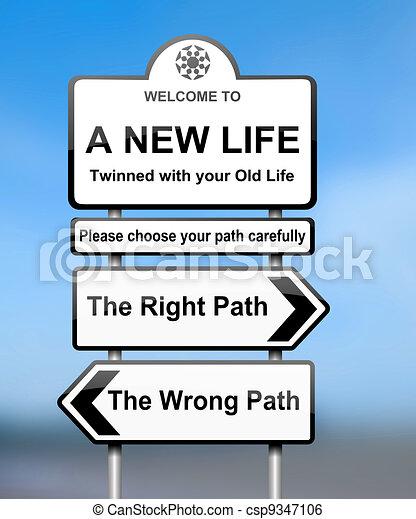 Choosing the right path. - csp9347106