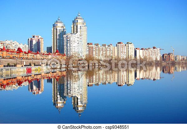 Kiev skyline - csp9348551