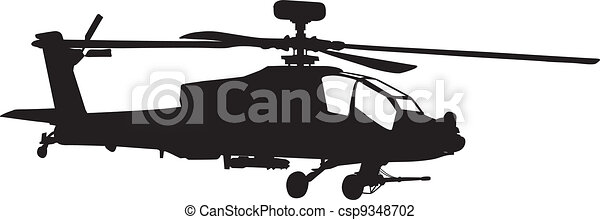 Apache helicopter  - csp9348702