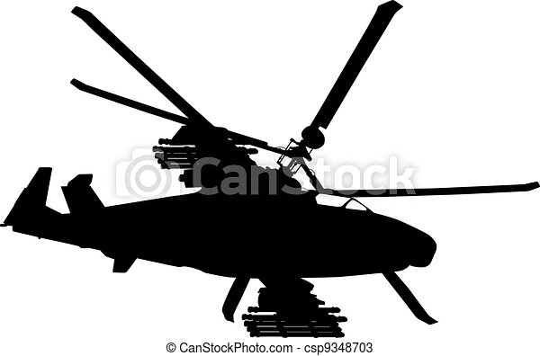 Flying helicopter  - csp9348703
