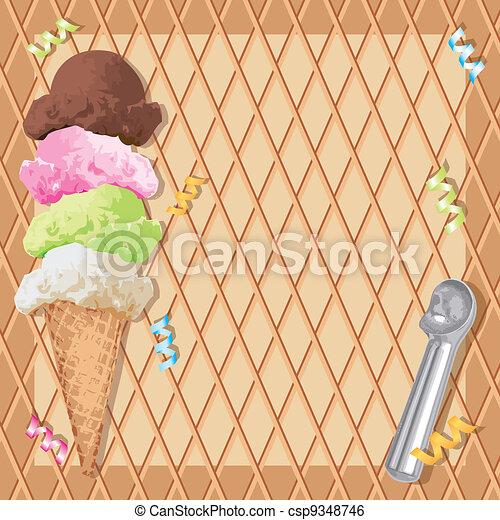Ice cream cone birthday party - csp9348746