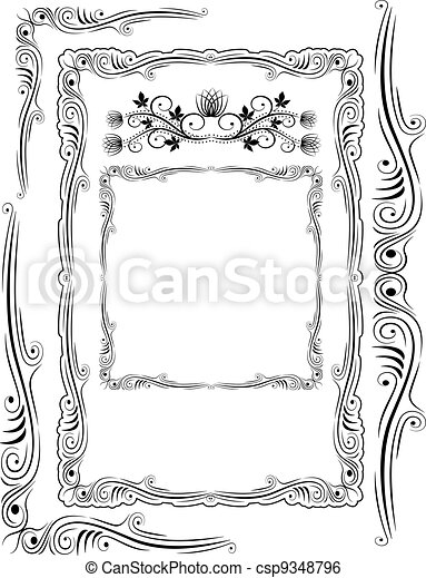 frames corners and ornaments - csp9348796