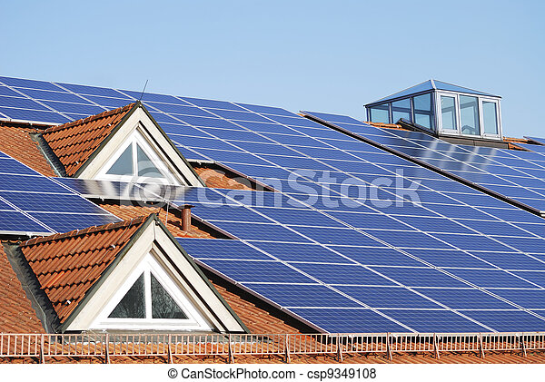 Roof With Photovoltaic System  - csp9349108