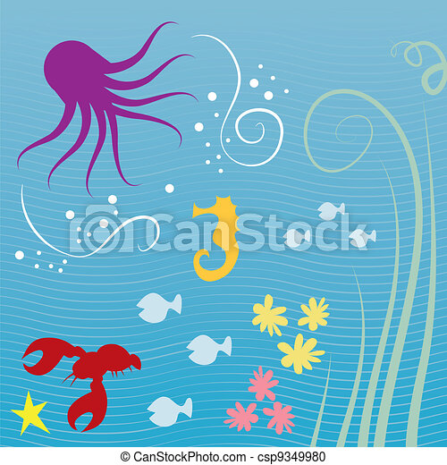 Sea Creatures   - csp9349980