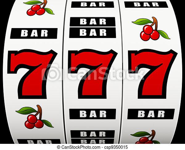 Jackpot on a slot machine - csp9350015