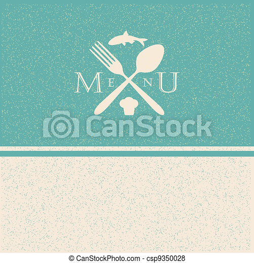 restaurant menu retro poster - csp9350028