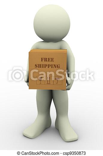 3d man free shipment - csp9350873