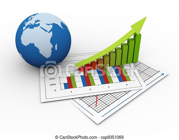 3d global financial growth  - csp9351069