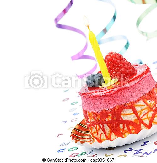 蛋糕, 生日, 鮮艷 - csp9351867