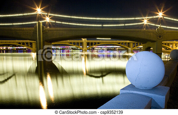 Tempe Mill Avenue Bridges - csp9352139