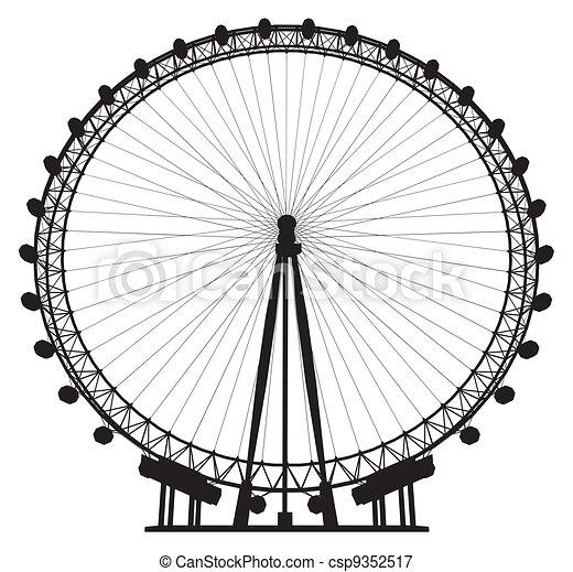 Carousel Silhouette - csp9352517