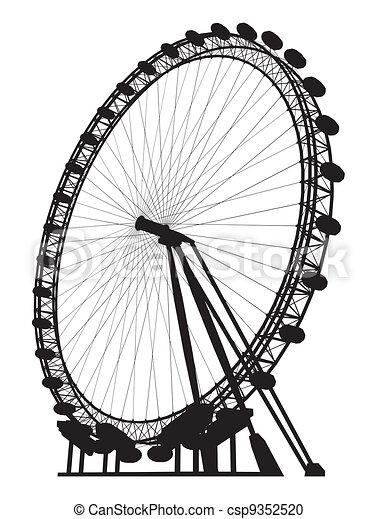 Carousel Silhouette  - csp9352520