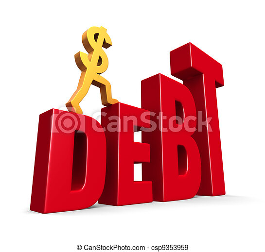 Rising Debt - csp9353959