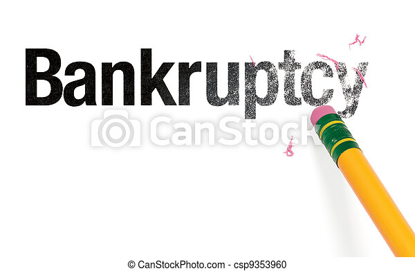 Erasing Bankruptcy - csp9353960