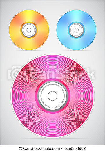 Compact disc vector collection - csp9353982