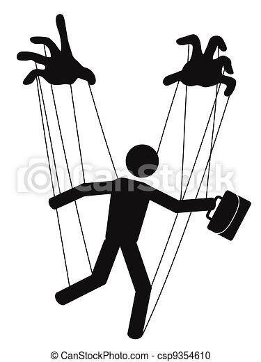 businessman puppet - csp9354610