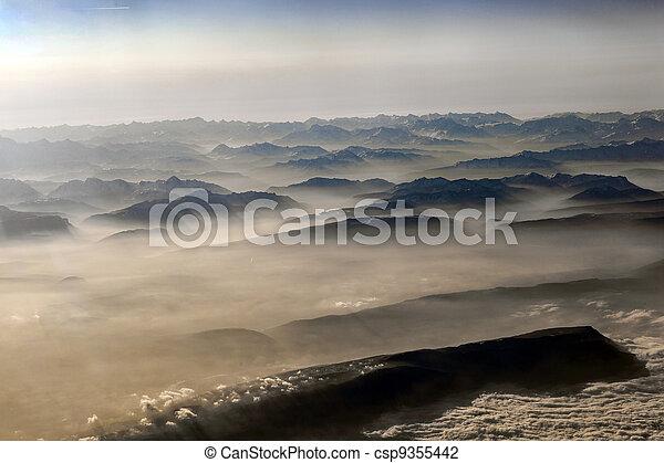 alpi, montagne, vista - csp9355442