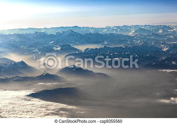 alpi, montagne, vista - csp9355560