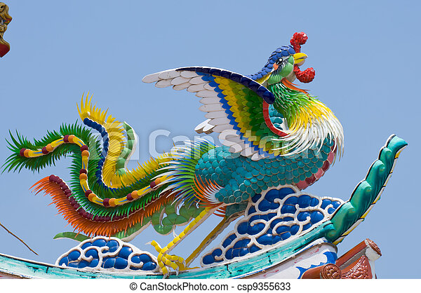 The Dragon status on roof of joss h - csp9355633