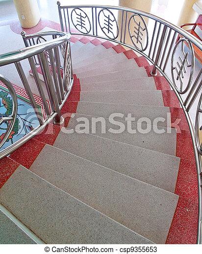 Stock fotos von marmor treppenaufgang mit chinesisches dekorieren stil csp9355653 - Treppenaufgang dekorieren ...