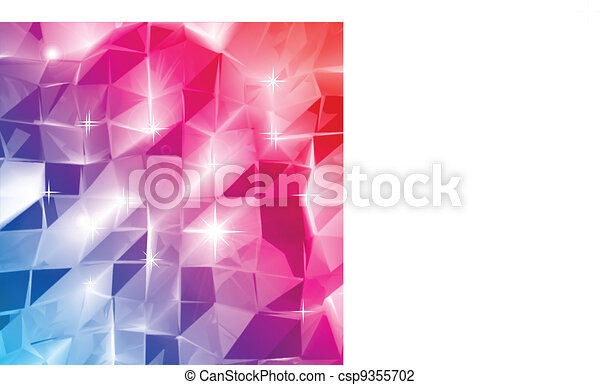 Colorful triangle abstract. Vector background - csp9355702