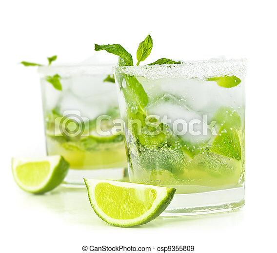 Cold mojito drink - csp9355809