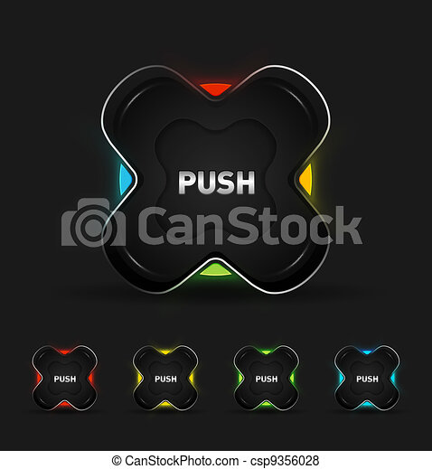 Vector futuristic button - csp9356028