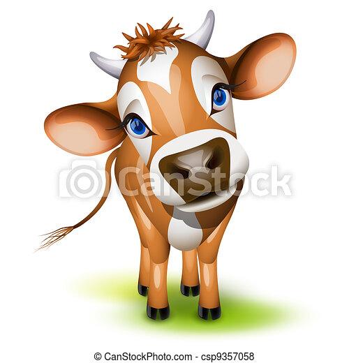 Little jersey cow - csp9357058