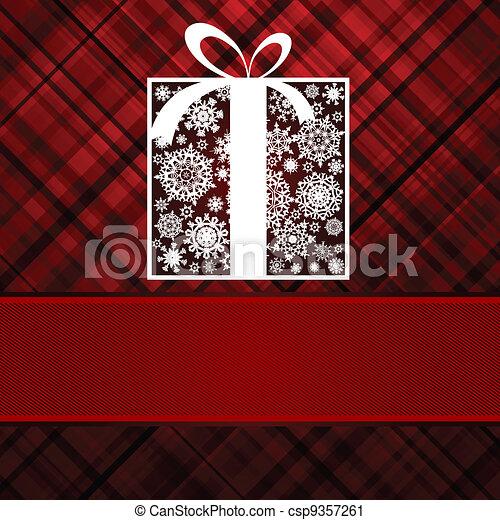 Christmas box card. EPS 8 - csp9357261