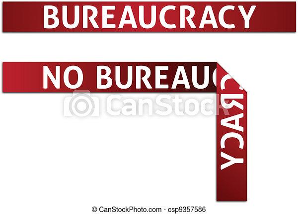 Bureaucracy and No Bureaucracy Red Tape - csp9357586