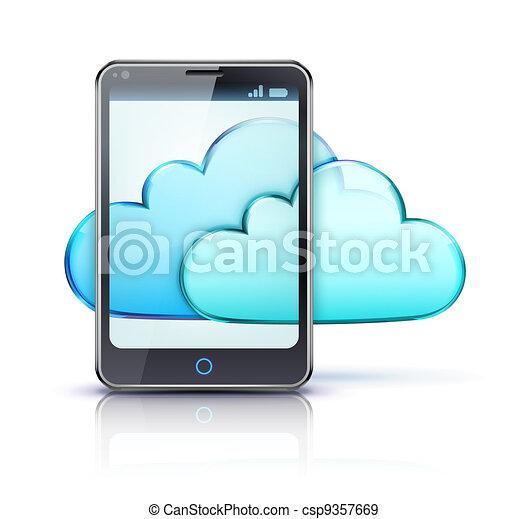 Cloud computing concept - csp9357669