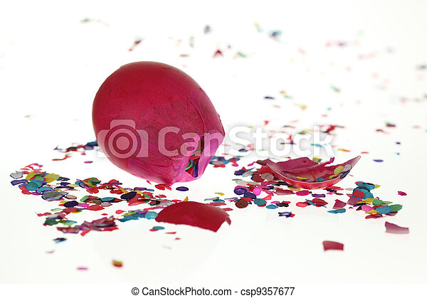 Smashed Confetti Eggshell - csp9357677