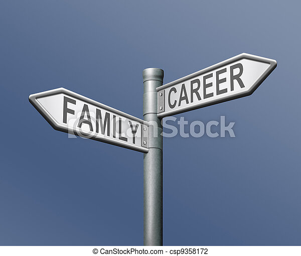 family career job or private dilemma - csp9358172