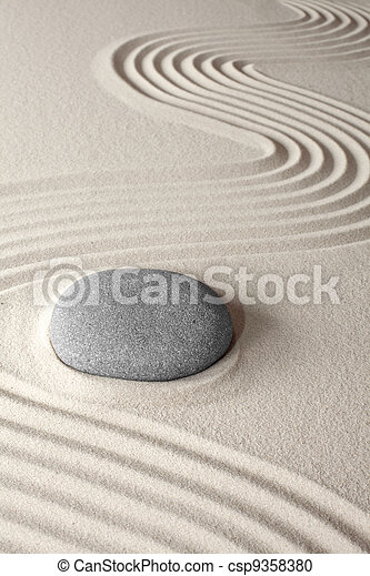 spiritual zen meditation garden - csp9358380