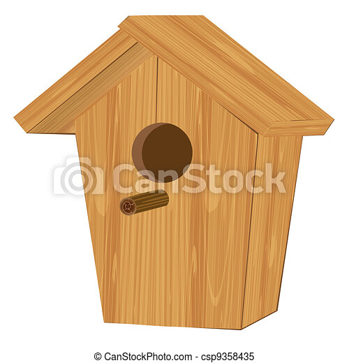 Cottage for birds - csp9358435