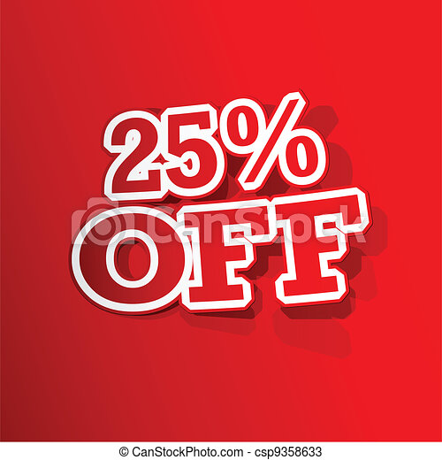 25 percent Off  Sticker - csp9358633