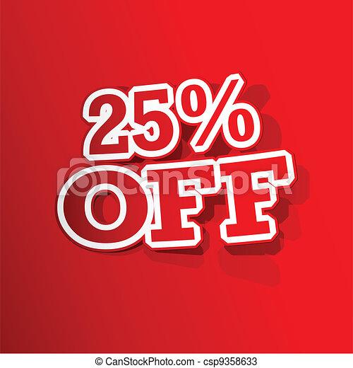 25 percent Off  Sticker - csp9358633