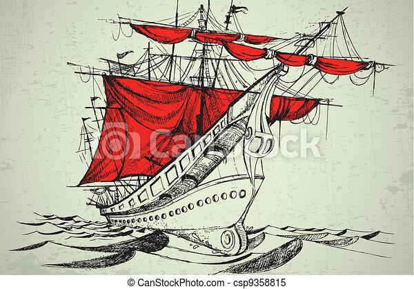 Vintgage Boat - csp9358815