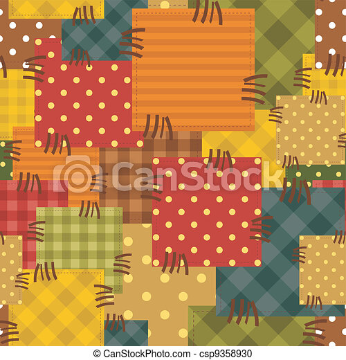 Vector Clipart Of Patchwork Background With Different