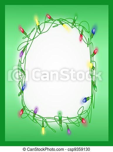 Tangled Holiday Lights - Frame - csp9359130