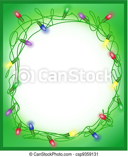 Tangled Holiday Lights Borde, Frame - csp9359131