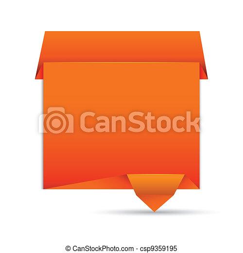 Origami Speech Bubble - csp9359195