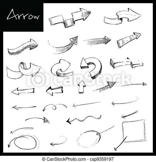 Hand Drawn Arrow - csp9359197