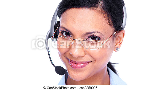 Call center operator business woman. - csp9359998
