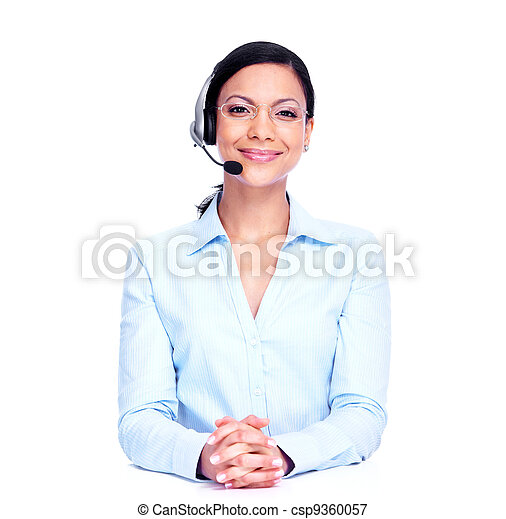 Call center operator business woman. - csp9360057