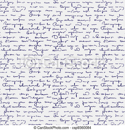 Seamless abstract handwritten text  - csp9360084