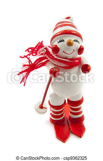 Snowmen goes downhill - csp9362325