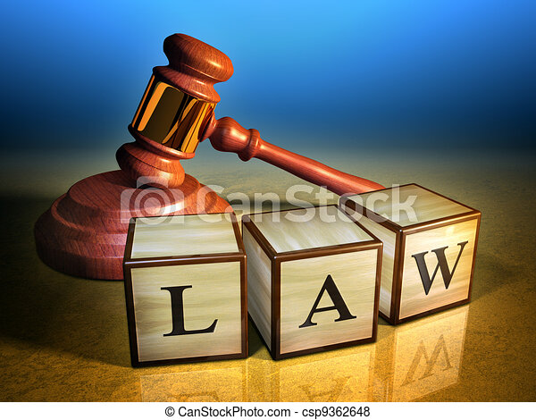 Law and gavel - csp9362648