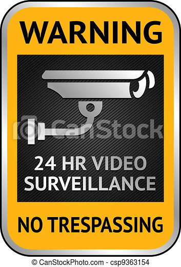 Cctv video surveillance label - csp9363154
